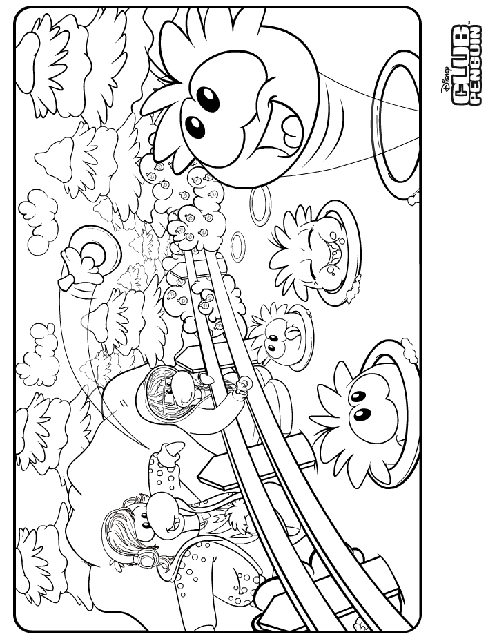 Club Penguin Coloring Pages Of Dino Puffles - More information