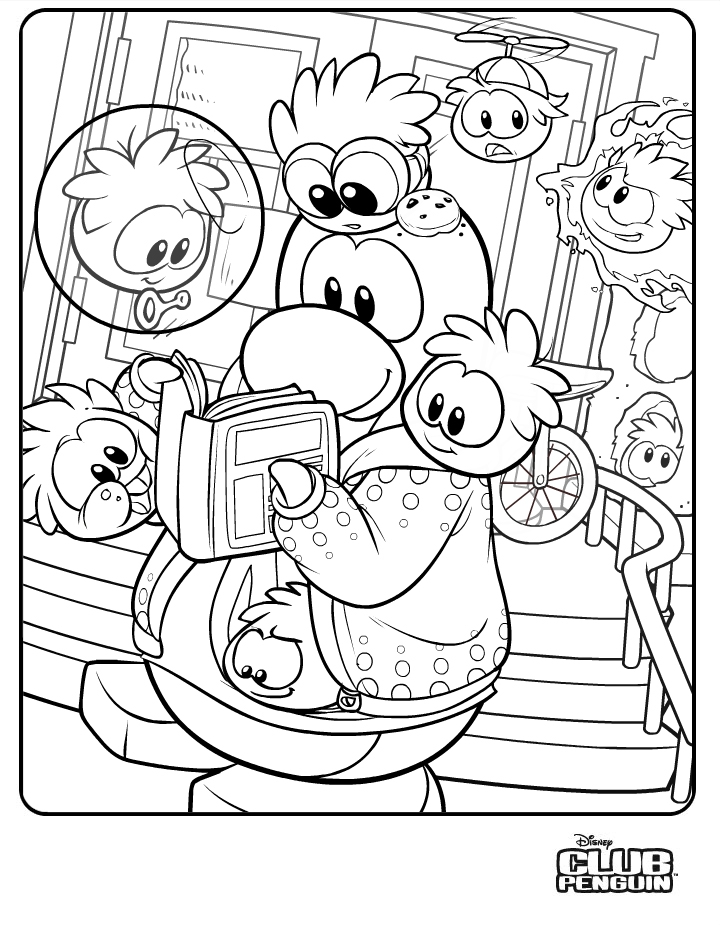 club penguin coloring pages of rockhopper exploration | coloring pages | spookyitalia